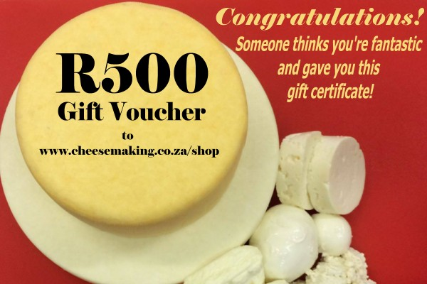 Cheese Making Gift Card